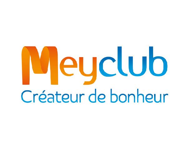 Logo de l'entreprise Meyclub avec la baseline créateur de bonheur